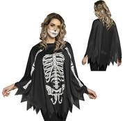 Halloween  Skelet  poncho