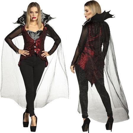 Dames vampiers kostuum met cape