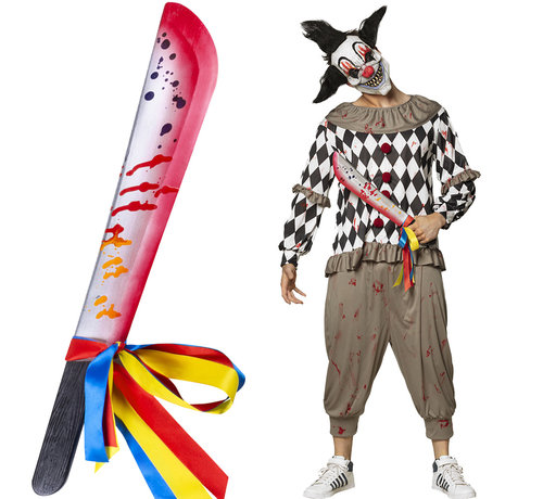 Horror clown nep machete