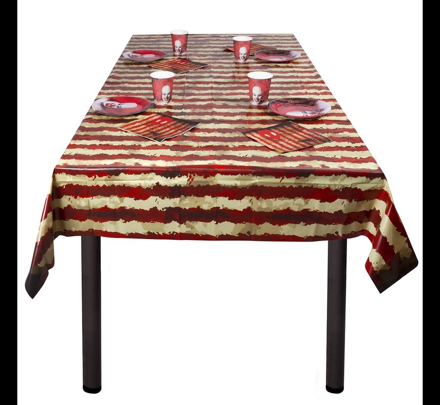 Horror clown tafelkleed 180x120 cm