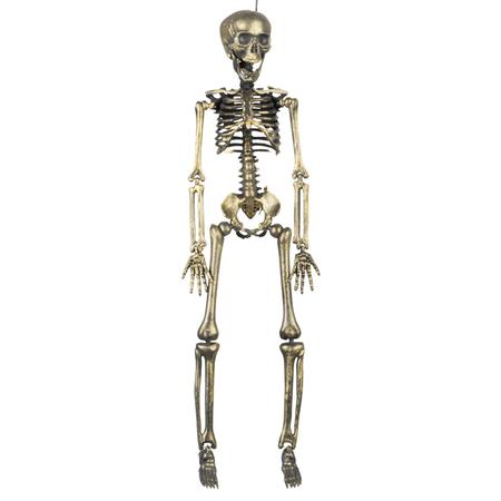 Halloween Decoratie skelet goudkleurig