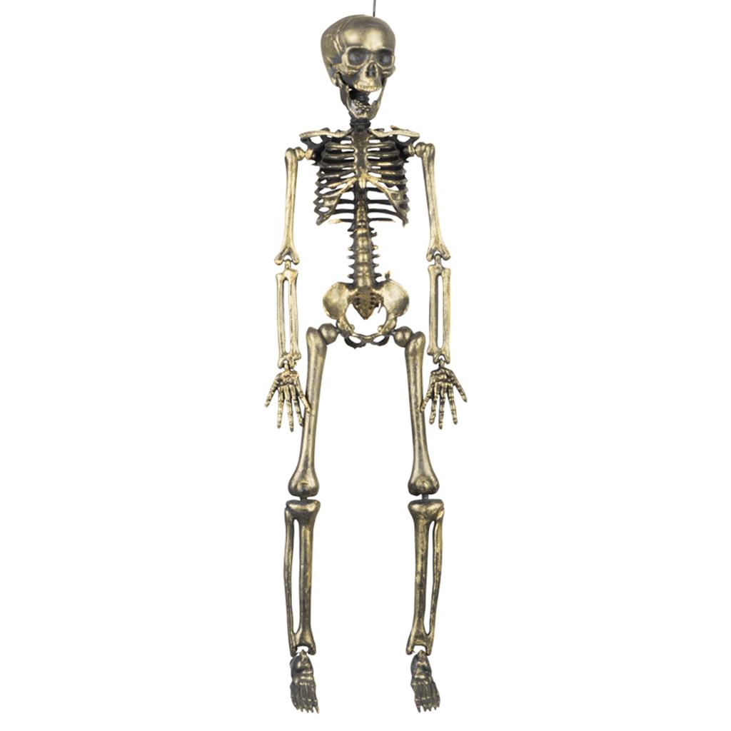 Halloween Decoratie Bestellen.Halloween Decoratie Skelet Goudkleurig