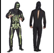 Enge skelet kostuum