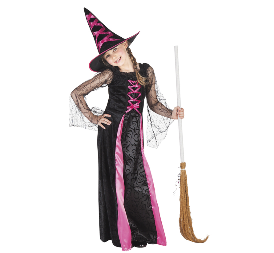 Kinder verkleedkleding webbed witch