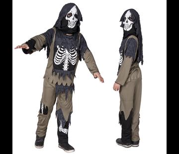 Kinder verkleedkleding zombie skelet