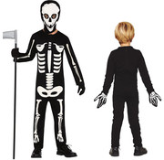 Halloween kleding skeleton boy