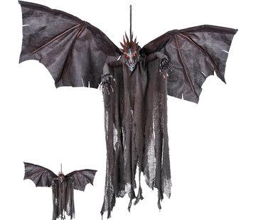 zwarte vliegende draak