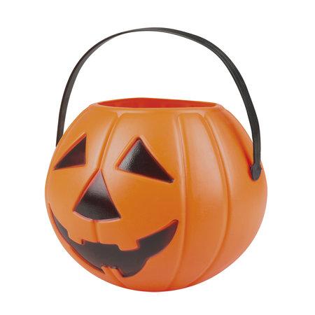 Halloween pompoen snoepmandje Orange