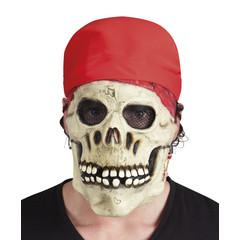 Latex Piraten schedel masker met bandana