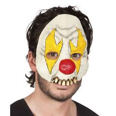 Latex halfmasker Horror clown