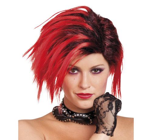 Punk pruik dames Scarlett
