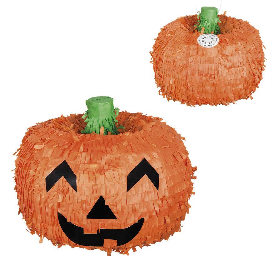 Oranje papieren Pompoen Piñata