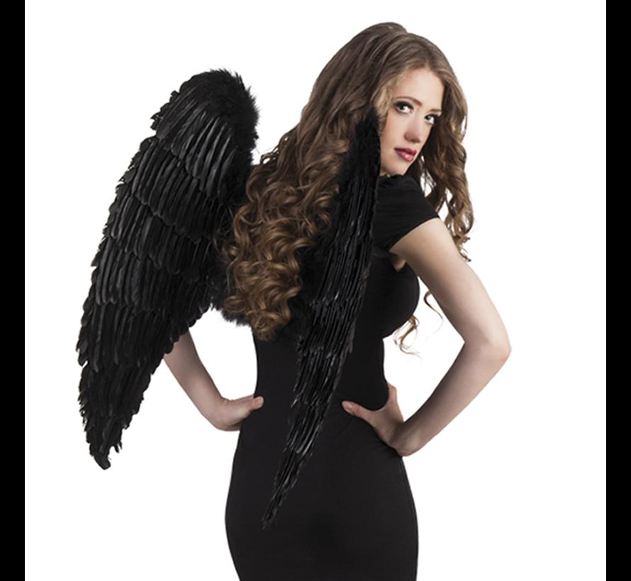 grote engelen vleugels zwart