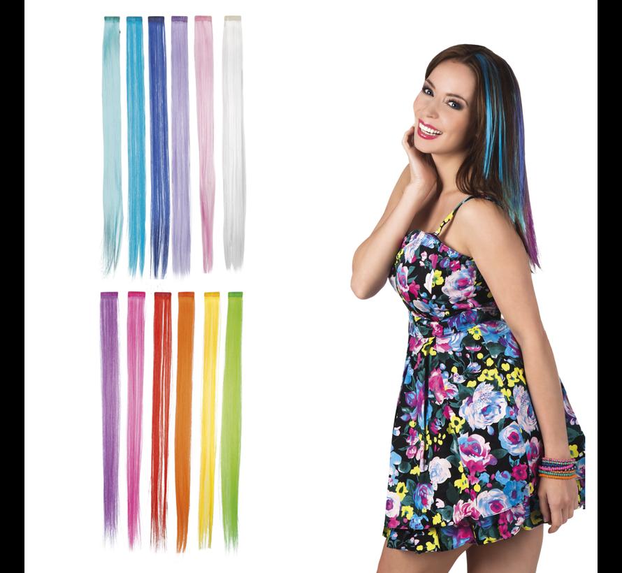 Gekleurde Hair extension Clip-in