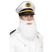 Kapiteins baard wit