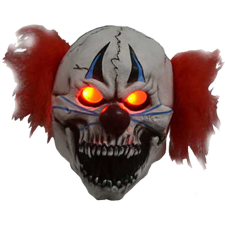 Horror clown masker met verlichte ogen