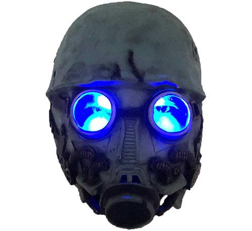 Halloween gasmasker met verlichte ogen