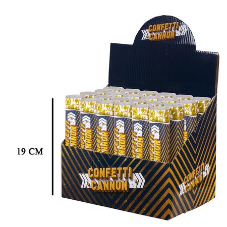 Confetti kanon goudkleurig slow fall