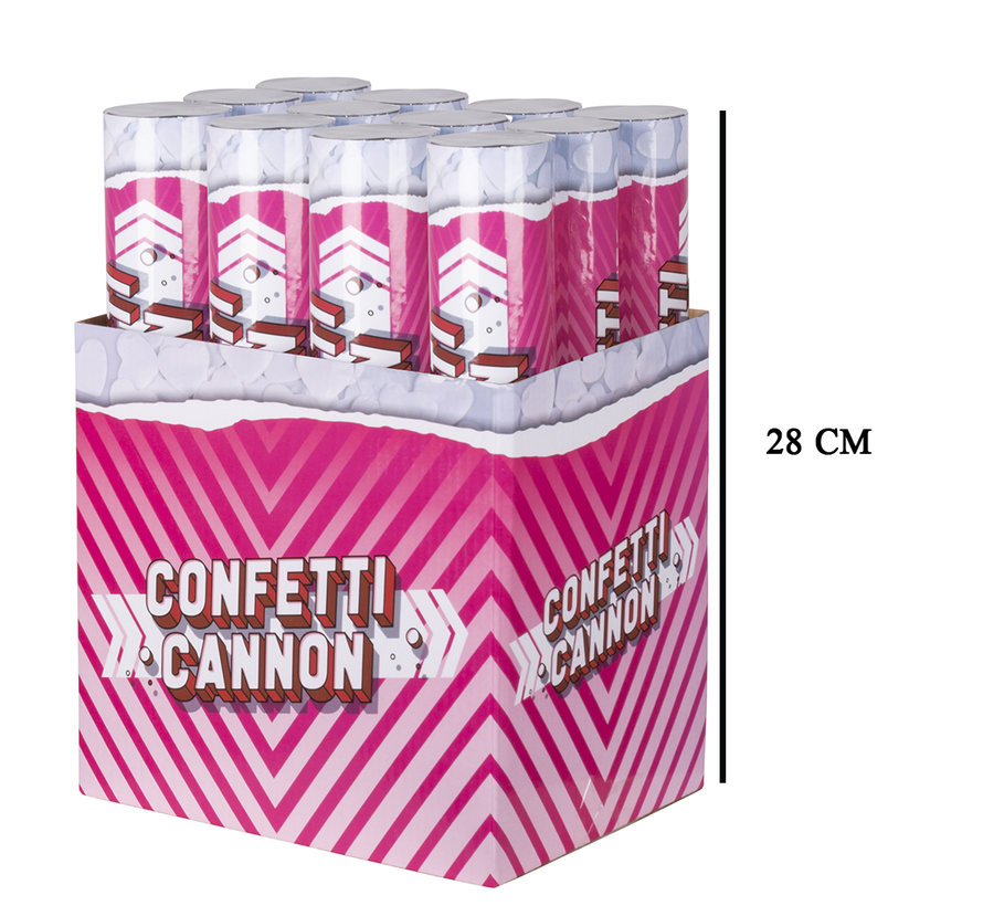 Witte hartjes confetti kanon