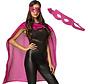 SuperHero roze cape met oogmasker