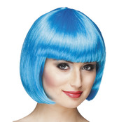Ijs-blauw bobline pruik