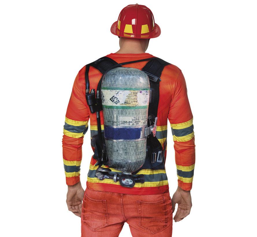 3D Shirt Brandweerman kopen