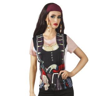 Dames piratenshirt