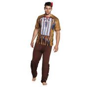 Heren fotorealistische indianen shirt