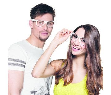 Witte Party bril zonder glazen