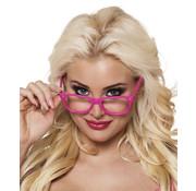 Roze Party bril zonder glazen