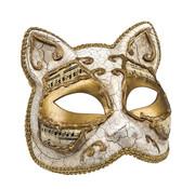 Wit Venetiaans katten masker