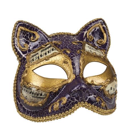 Venetiaans katten masker paars