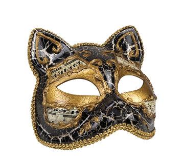 Venetiaans katten masker zwart