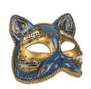Venetiaans katten masker blauw