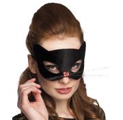 Zwart poezen masker