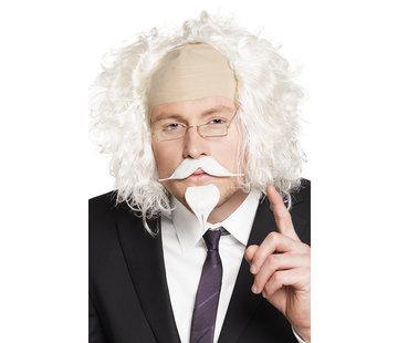 Witte Professor plaksnor en plakbaard