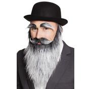 Nep grijze baard set