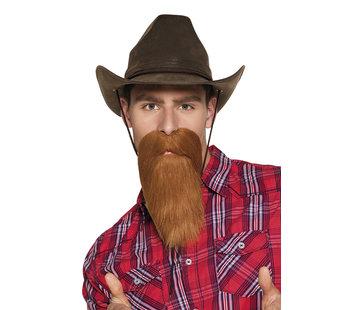 Cowboy nep baard en snor