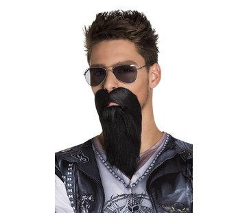 Zwarte biker baard