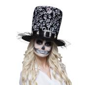 Hoge Mexicaanse hoed zwart