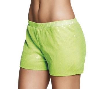 Neon groen hotpants