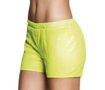 Neon geel hotpants