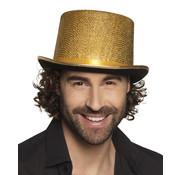 Hoge hoed goud gekleurd