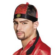 Chinese hoed met haar