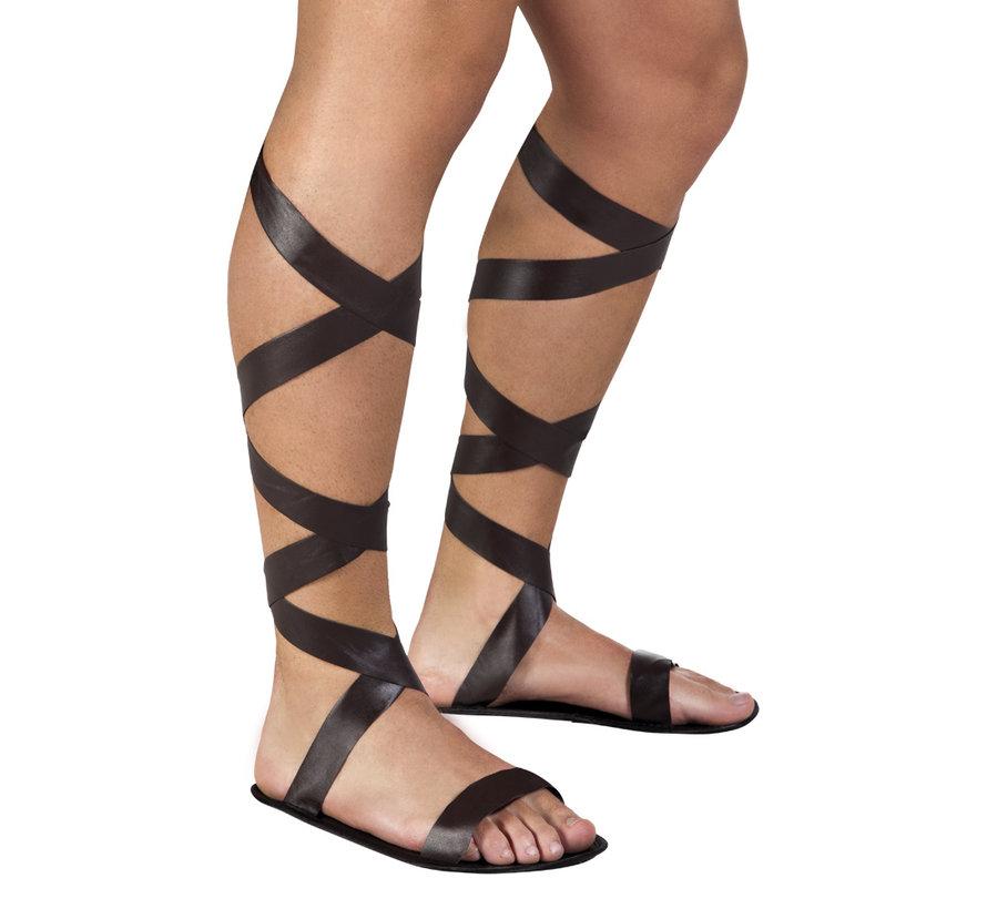 Gladiator Romeinse sandalen bruin