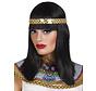 Zwarte Pruik Cleopatra met haarband