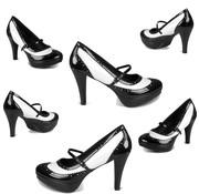 Zwart/witte pumps