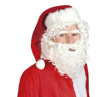 Kerstman Baard set 3 delig kort