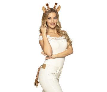 Tiara set Giraffe - Tiara met staart