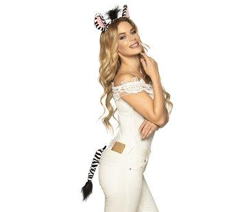 Tiara set Zebra - Tiara met staart